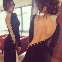 Sexy Evening Party Dresses Women Celebrity Backless Full Long Maxi Dress Lady Bodycon Pencil Dress Party Evening Wear Vestidos