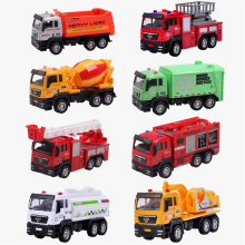 9 Style High Quality Alloy Vehicles Model Toy Mini Tractor China Toy Crane Fire Car Dinky Model Cheap Toys For Children Boy Gift(China)