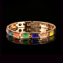 HOMOD Men and Women Health Charm Bracelet Magnetic Power Gold Chain Link Bracelets & Bangles Jewelry for Women