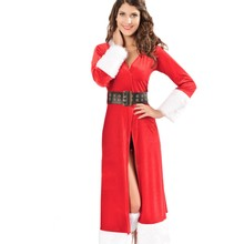 New 2016 Hot Selling Holiday Adult Cosplay V Neck Sexy Festive Winter Fantasy Costume For Woemen LC7161 New Year Clothes
