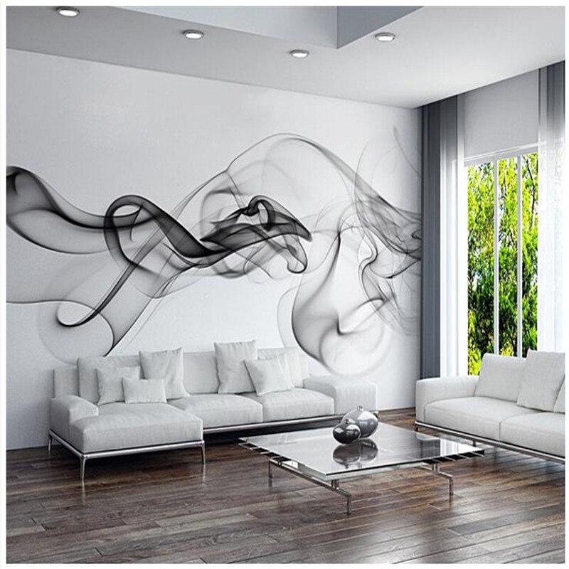 Custom 3D photo wallpaper Smoke clouds abstract artistic wall paper modern minimalist bedroom sofa TV wall - Behang Landschap