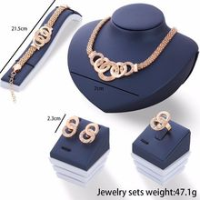 Luxury Gold Silver Plated Imitation Jewel Jewelry Sets Fashion 2017 African Necklace Earrings Bracelet Ring Set For Women Style