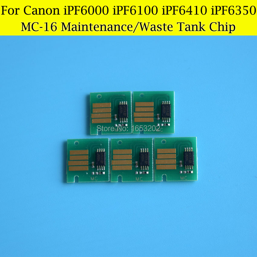 5 PCS/Lot MC-16 Maintenance Tank Chips For Canon IPF6410s IPF6350s IPF6410se IPF6410 IPF6350 IPF6300 iPF6300s Waste Ink Tank<br><br>Aliexpress