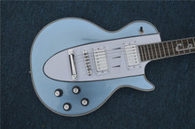 Custom Shop Corvette 1960s LP Guitar white & Blue Version Special Inlay Rosewood Fretboard In Stock For Sale(China)