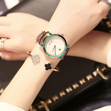 Special Offer Hk GUOU Damen big wind Gold Steel Band Fashion Waterproof electronic watch Korean lady simple Quartz Wristwatches(China)