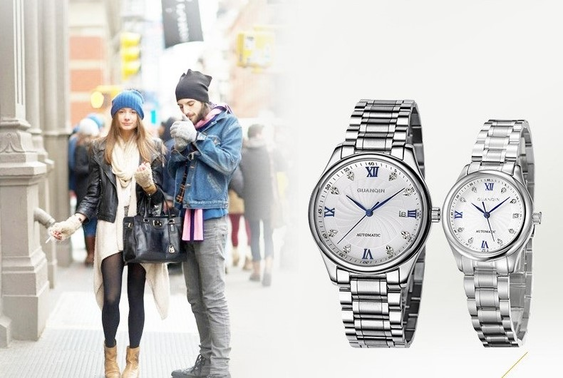 GUANQIN Luxury Lovers Watch Top Brand Women Men Watches Waterproof Sapphire Crystal 316L Stainless Steel Couple Watches 2 Pieces (11)