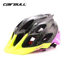 CAIRBULL 2017 New Ultralight Cycling Helmet with Anti-uv Brim Integrally-molded Helmet Mountain Bike Head Safety Capacete