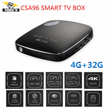 2017 NEW CSA96 Set Top Box + Best German Albania Europe IPTV Free 1 Year RK3399 4G/32G Bluetooth4.0 Android 6.0 TV Box(China)