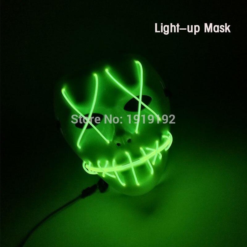 Новая мода el Косплей Хэллоуин мультфильм маска клоуна для маски для вечеринок и ночных клубов DJ маски по 3 В устойчивый на драйвер(China)