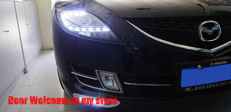 Dimming style relay 12V LED DRL daytime running lights For Mazda 6 zoom-zoom evolution 2010-2012<br><br>Aliexpress