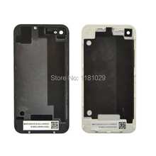 OEM White Black Battery Cover For iPhone 4s Back Cover Door Rear Panel Plate Glass Housing Replacement  Free Shipping