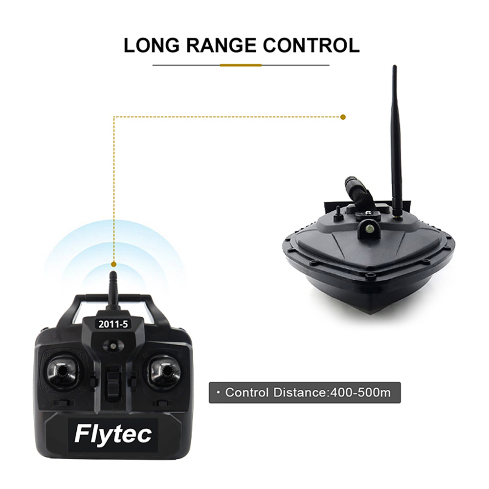 Flytec 2011-5 Fish Finder Fish Boat 1.5kg Loading 500m Remote Control Fishing Bait Boat RC Boat Ship Speedboat RC Toys (5)