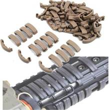 NEW Larue Handguard Index Clips Rail Covers 60 Clips Khaki Black Fit all 20mm Weaver Rail TAN BK(China)
