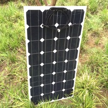 1pcs Flexible solar panel 12V 100 W Watt Panel solar battery charger Solar CELL  Light Vehicle Yacht 18V Volt