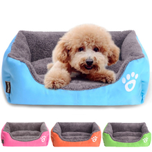 Summer Rectangle Candy Colored Dogs Beds Soft Warm Pet House Kennel Breathable Cool Mat Cushions For Small Dogs Cats S/M/L