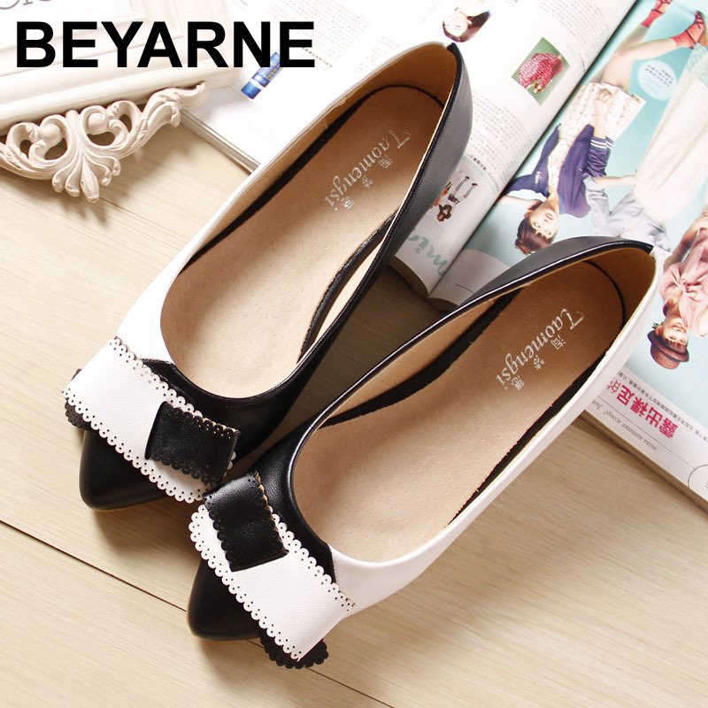 Women Patent Leather Flats Shoes 2015 New Genuine Leather Lining Flat Ballet Ballerina Sapatilhas Flat Pointed Toe Shoes<br><br>Aliexpress