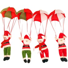 Christmas Decoration Pendant Non-woven Lovely Santa Claus Coming With Parachute Vintage -Christmas Ornament Decor Gifts(China)