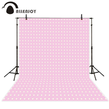 Allenjoy Background for photo Pink cute children little white dots  Camera photography background photography for photographing