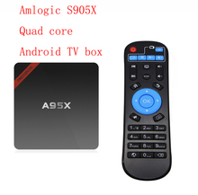 A95X Amlogic S905X Quad Core Mini PC RAM1/2G ROM8/16G Wifi 4K HD Android TV Box(China)