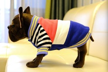 Cute Dog Clothes Pet Costume Stripe Coat Cat Pet Mixed Colors Clothing for Small Dogs Puppy Jacket Chihuahua(China)