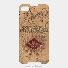 For Blackberry Z30 Z10 Z3 Passport Q30 Classic Q20 Q10 Q5 priv Dtek50 60 Patterned Cover The Marauders Map mobile phone cases