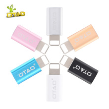 OTAO Micro USB Converter For Android Micro USB Adapter Male To USB Adapter Transfer For iPhone Fast Charging For Lighting