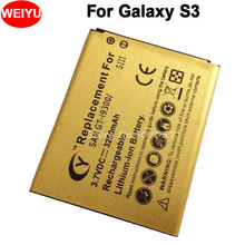 3250mah High Capacity Gold Battery For Samsung for Galaxy SIII S3 i9300 GT-i9300 I9305 L710 i747 Bateria Batterij Accumulator(China)