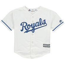 MLB Preschool Kansas City Royals Mike Moustakas Baseball Alternate White Official Cool Base Player Jersey(China)