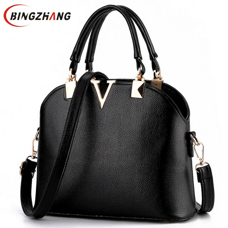 New Fashion Messenger Bags Handbags Women Famous Brands Candy Color Women Leather Shoulder Bags Classic Shell Bag Ladies L4-1714<br><br>Aliexpress