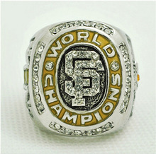 Factory direct sale 2010  San Francisco Giants Baseball Zinc Alloy silver plated Championship Ring Custom Sports Replica Jewelry