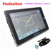 Reverse Parking System,7 inch Vehicle GPS Navigation 256M/8GB CPU800Mhz+Wireless Rear View camera+free latest maps(China)