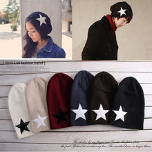 Fashion Winter Star Pattern Beanies Unisex Knit Warm Crochet Slouch Hat Women and Men Beanies Cap Hats Beanies