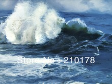 handmade oil painting on canvas modern 100% Best Art Seascape oil painting original directly from artist SE-009(China)