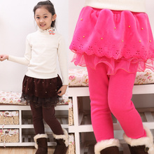 Korean style baby girls petticoat pattern winter teenage cute tutu pant mini short skirt attached with legging with pearl