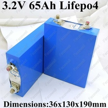 2pcs Large 3.2v lifepo4 65ah high power cell 100A discharge 3C 50Ah for electric vehicles EV pack diy storage solar system coach
