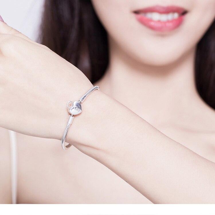 bracelet a charm cadenas 925 tendance glamour