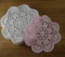 Nostalgic vintage Crochet Doily Lace cup Mat Vase Mat, Coaster 16x16cm Table Mat Customization Physical picture 100%