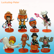 One Piece 89 Edition Hallowmas Ver. Action Figure Pumpkin Ver. Nami Sanji Chopper Zoro Doll PVC ACGN figure 6-9CM(China)