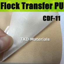 CDF-11 Creamy white  heat transfer flocking film, flock transfer vinyl sticker for garment trasnfer 50X100CM/LOT
