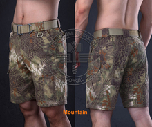 Mountain Camo military shorts summer  Knee length short pants for trainning Camouflage ripstop Kryptek army shorts lightweight