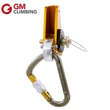 Rope Adjuster Lanyard Flipline Adjuster Kit Gear HMS Carabiner with Rope Grab Tower Working Arborist
