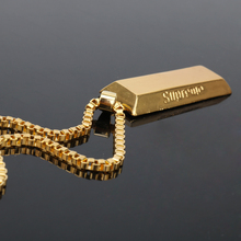 HEYu Hot Gold Necklace Hip Hop Supreme Bar Brick Franco Jewelry Long Star Necklaces Pendant Gold Chain Unisex Hipster