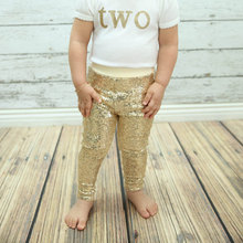 2015 new popular gold sequins baby pants Fashion Bling shiny Girls leggings Candy color Pants gold glitter leggings club pants