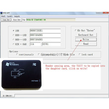 125KHz RFID ID Card Reader & Writer/Copier/Programmer + FREE Rewritable ID Card/Keyfob COPY ISO EM4100 EM4102 Proximity T5577(China)