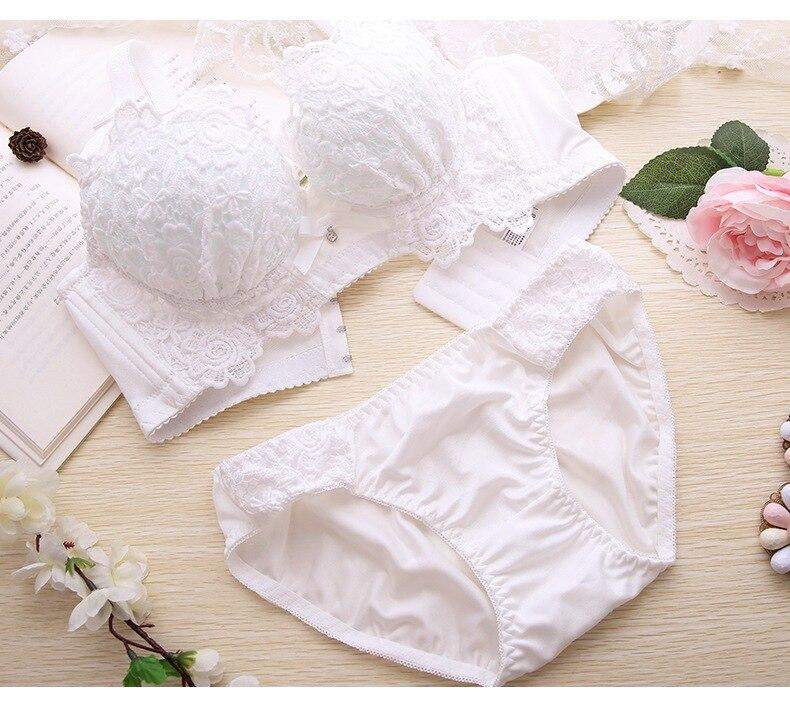 Minoan Push Up Bra Set Sexy Lingerie | Embroidery Cotton Bralet Set 11