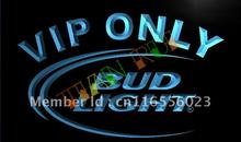LA092- Bud Light VIP Only Bar Beer LED Neon Light Sign(China)