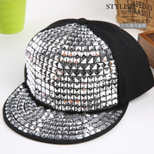 Kids Fashion Rivet Hip Hop Snapback Hats Gold Silver Crystal Custom Brand Baseball Cap Sport Luxury Boy Girl Casquette Gorras