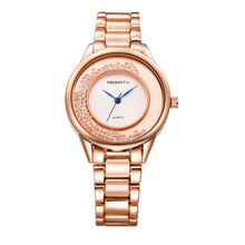 REBIRTH Newly Design Women's Luxury Rhinestone Crystal Dress Quartz Wrist Watches Gift For Friends Women Watch Relogio Feminino(China)