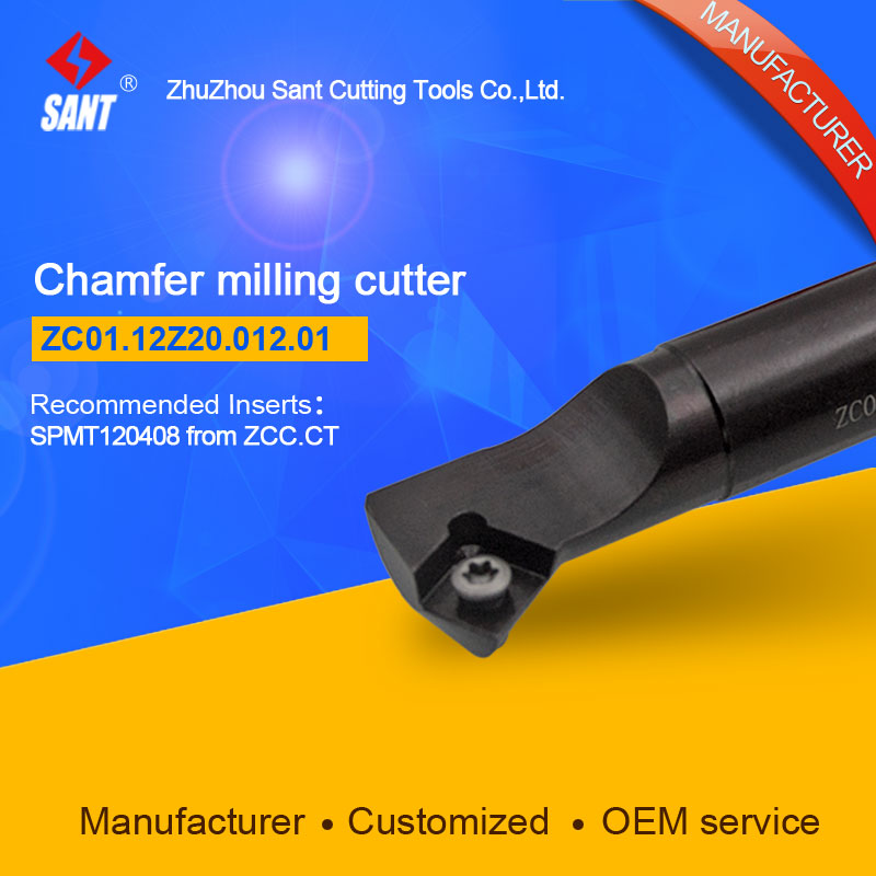 Refer to CMZ01-012-G20-SP12-01 or ZC01.12Z20.012.01 Chamfer Milling Tools for Inserts SPMT120408<br>