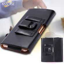 KISSCASE Universal Belt Clip Leather Case For iPhone 6 6s 4.7 inch 5 5S SE 4 4S Classic Cool Black PU Wallet Leisure Phone Cover
